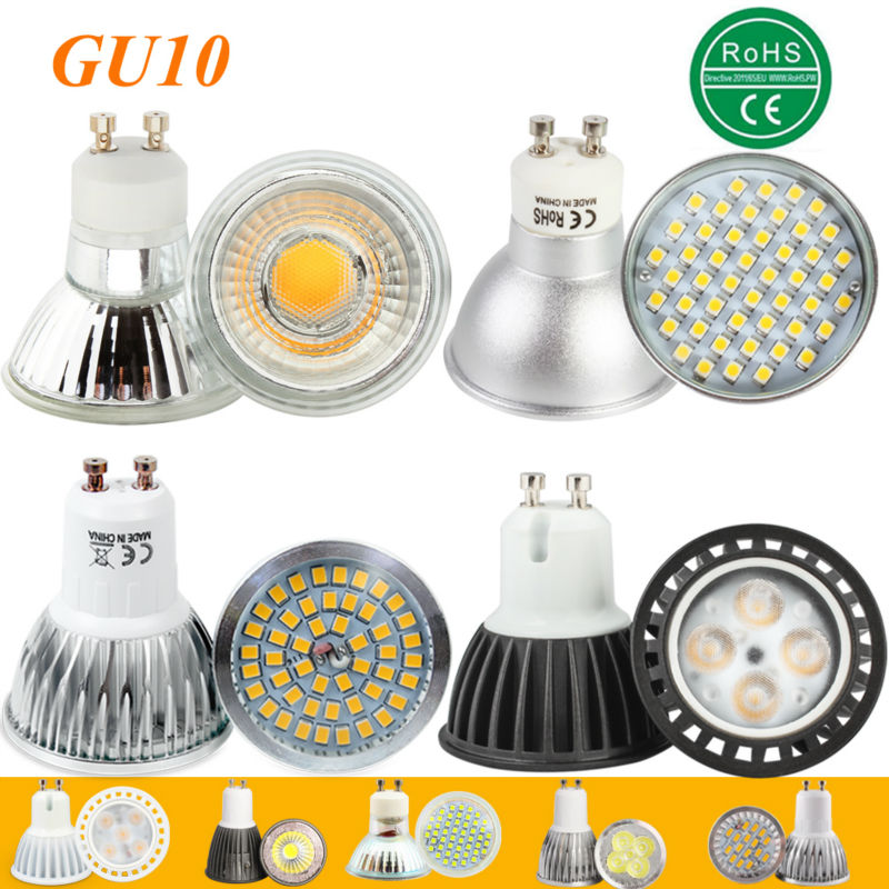 LED GU10 COB spot lamp dimmable bulb SMD 2835 2700K 3000K Warm White 3W 4W 5W 7W bulb light replace Halogen lamp energy saving 5w 7w cob led e27 cob ac100 240v led glass cup light bulb led spot light bulb lamp white warm white nature white bulb lamp