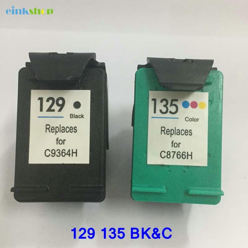 Ink Cartridge For HP 129 black ink for hp 135 PSC 1401 1402 1410 Offcejet 4310 5605 5610 printer hp135