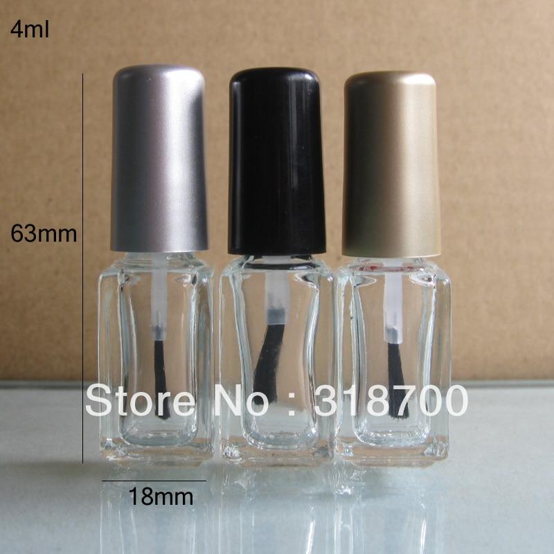 How To Empty A Nail Polish Bottle: 4ml 200pcs/lot Factory Wholesale Square Empty Nail Polish