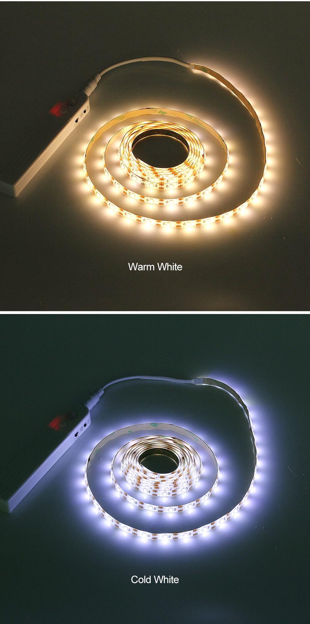 HTB1KOGhJqSWBuNjSsrbq6y0mVXa9 ANBLUB 1M 2M 3M Motion Sensor LED Night light Bed Cabinet Stairs light LED Strip lamp Battery Powered For TV Backlight lighting