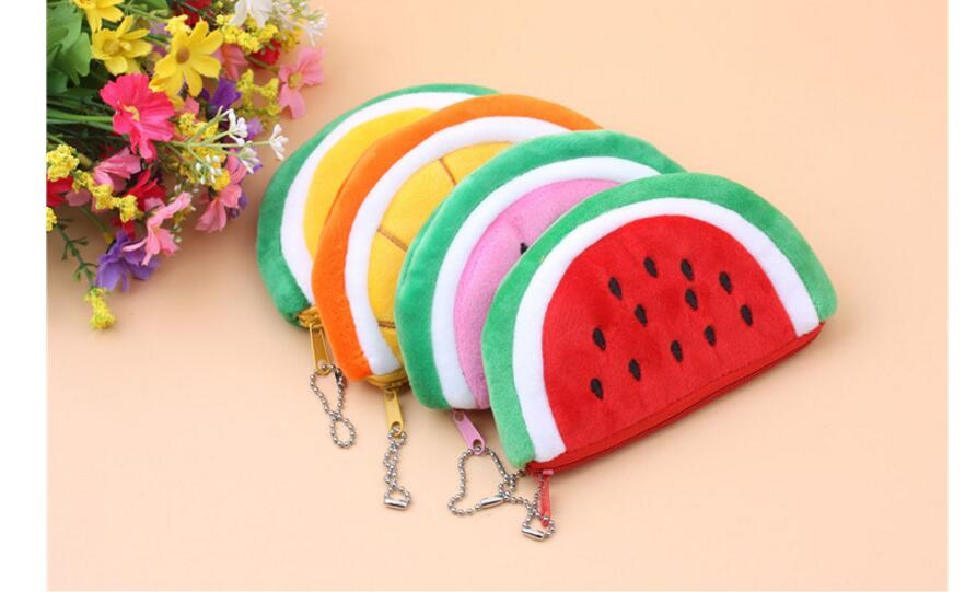 50pcs/lot! 2017 HOT Kawaii Summer Fruits Watermelon Lemon Etc.-Plush Hand Coin Purse Wholesales kawaii fresh summer fruits banana