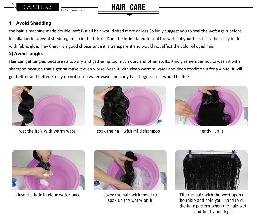 Sapphire Brazilian Hair Weave Bundles Body Wave Bundles With Frontal Human Hair 3 Bundles With Closure Frontal Hair Extension