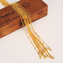 Bangrui 12pcs/Lot, Length 50CM Wholesale Small Size Chain Thin Necklaces Gold Color Jewelry for Girl Women/Men Accessories gift(China)