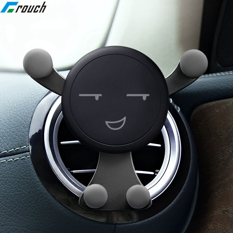 Crouch Universal Car Phone Holder For Phone In Car Air Vent Mount Stand Gravity Mobile Phone Holder For IPhone Samsung Huawei LG