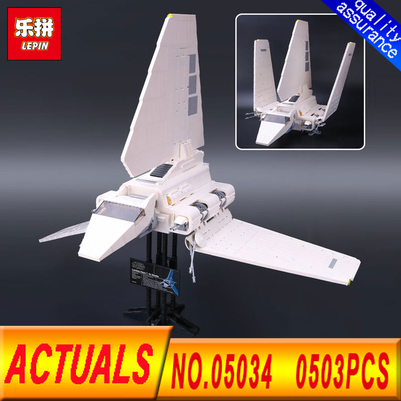 Lepin 05034 2503 Pcs Star Series Wars The Imperial Shuttle Building Blocks Bricks Assembled DIY Toys Compatible 10212 Gifts star wars imperial shuttle 05034 diy building brick model toys boys gift same as 10212