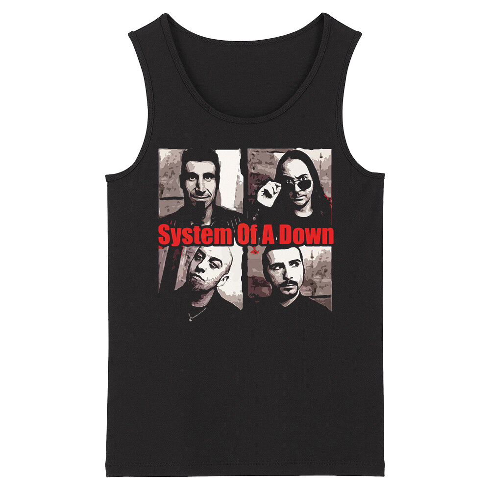 Bloodhoof System Of A Down Alternative Metal Deathcore Men's Black O Neck New Top Tank Tops Asian Size