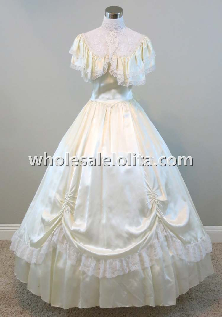Cut Price Ivory Ball Gown Vintage Gunne Sax Gown Civil War Southern ...