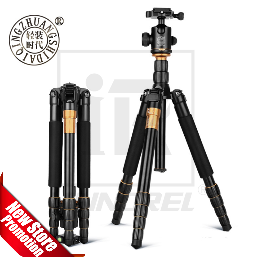 QZSD Beike Q666 Professional Magnesium Aluminium Alloy Tripod & Monopod Ballhead For DSLR Camera Portable Traveling stand bt 158 aluminium alloy 1460mm camera video monopod professional extendable tripod slr dslr holder stand with carry bag
