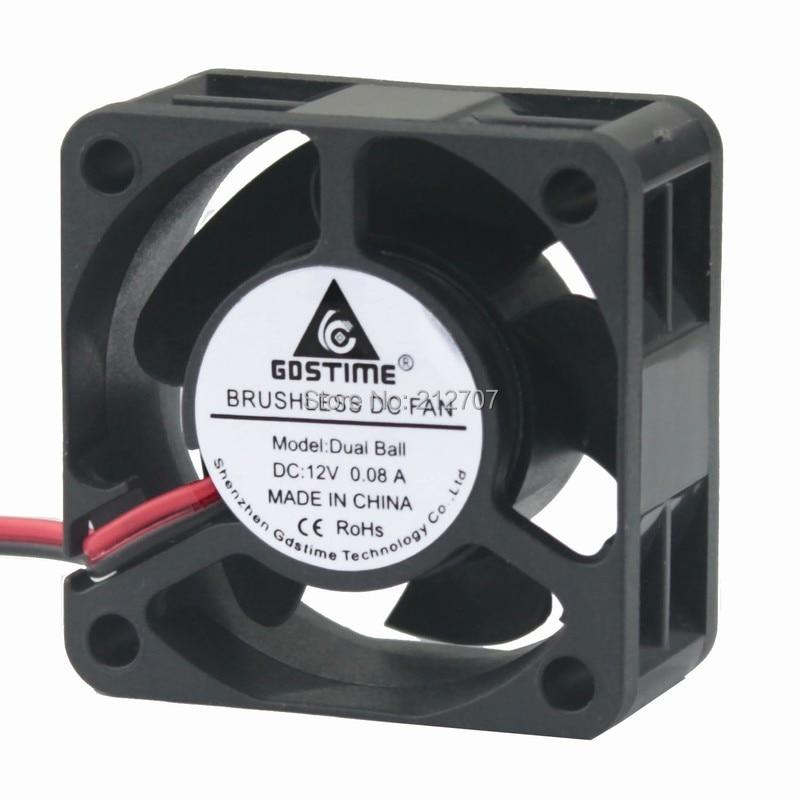 5PCS Gdstime 4020 DC Cooling Fan 12V Ball Bearing 2 Pin Mini Cooler 40mm Radiator 40x40x20mm