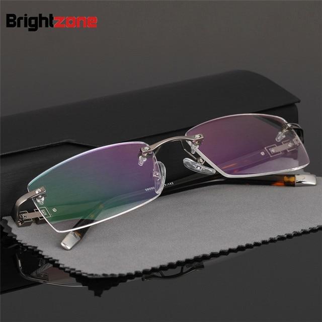 0e57043f604 2017 New Arrival Business man Rimless GlassesRimless Prescription Glasses  Metal FrameRimless Spectacles For Men Gafas