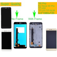 купить 10Pcs/lot For Huawei Honor 4C Pro TIT-L01 Y6 Pro TIT-AL00 Y6Pro TIT-U02 LCD Display Touch Screen Digitizer Assembly With Frame по цене 8662.45 рублей
