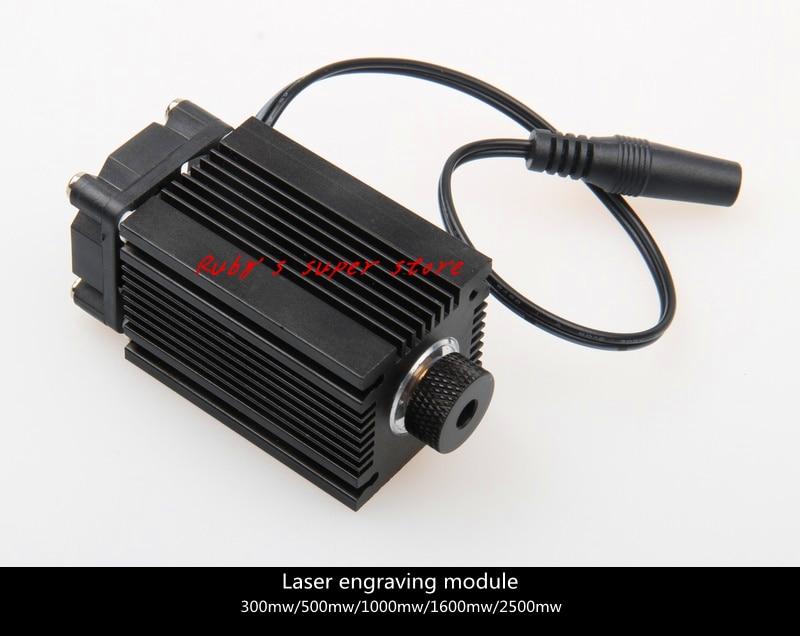 Mini laser engraving machine high power blue laser engraving module 1000W450nm free shipping