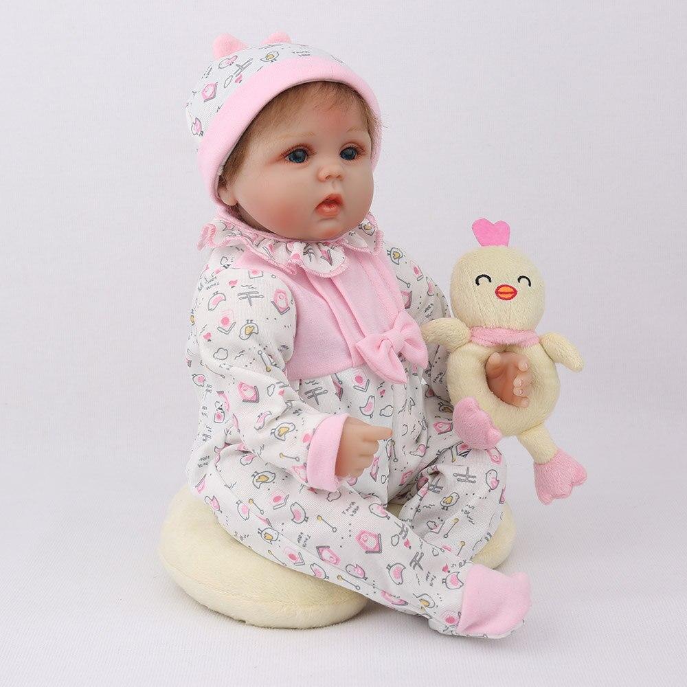 """Image 3 - NPKDOLL Кукла реборн 45 см Рождественский подарок для девочек 17 дюймов Baby Alive мягкие игрушки """"Цыплята"""" для девочек Lovely Bebe Reborn-in Куклы from Игрушки и хобби"""