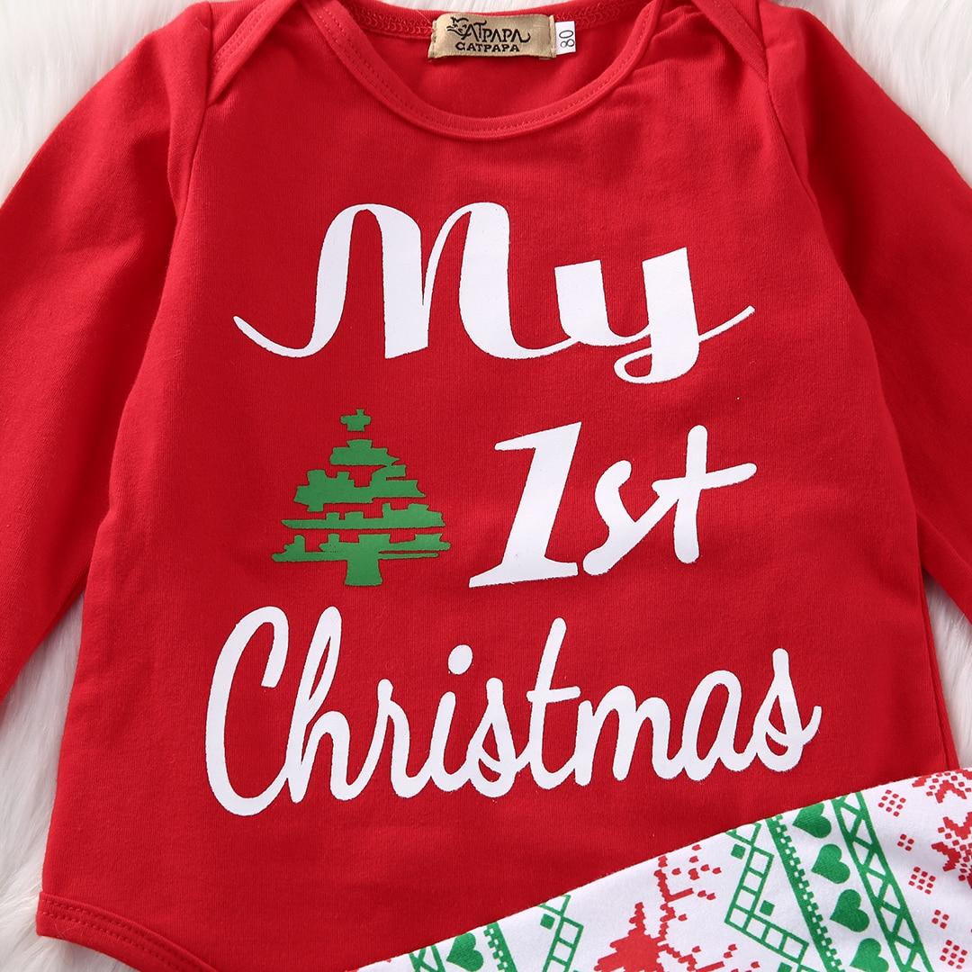 Christmas Newborn Baby Boys Girls Clothes Set Long Sleeve My First