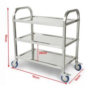 Image 1 - Carlito cocino chariot de cuisine à 3 niveaux, chariot de cuisine, Restaurant, grand de traiteur en acier inoxydable, HWC