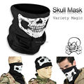 1pcs Freeship Motorcycle Skull Ghost Half Face Windproof halloween Cosplay skullies Outdoor Warm Ski Caps Balaclavas Scarf CS
