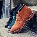 Novos Homens Botas de Couro Genuíno Tornozelo Botas de Cowboy Dos Homens Martin Moda Botas Chelsea Homens Outono Inverno Sapatos Botas Hombre