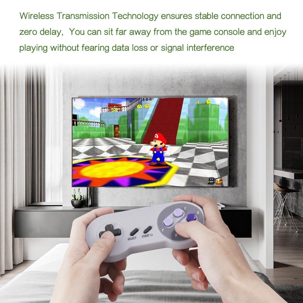 Wireless Gamepad game controller joypad joystick SNES 2.4G for Nintendo classic MINI game accessoires (2)