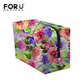 Colorful Floral Printing Makeup Bag Organizer Brand Travel Cosmetic Box Realistic Flower Woman Make Up Case neceser maquillaje