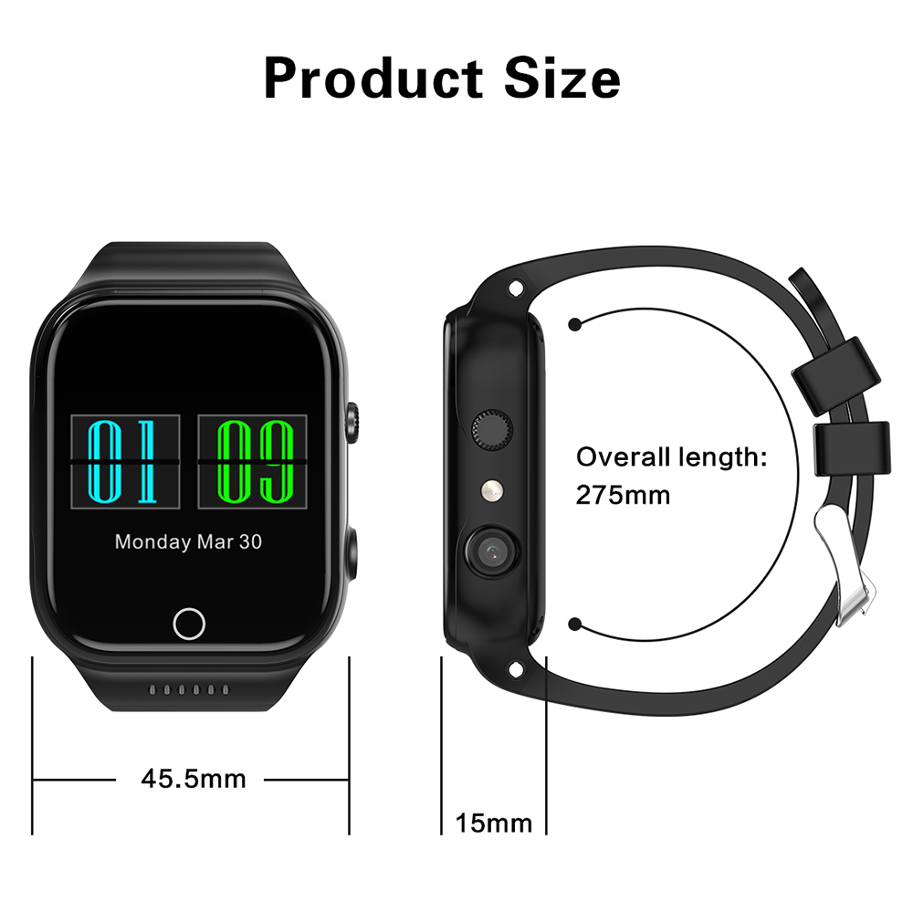 X89 smart wristband watch 1.54inch smart bracelet Android 5.1 Rom 8G support Sim card 3G Wifi Camera 2.0 MP SIM Card - 6