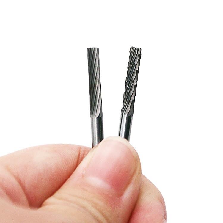 XINGWEIANG 20 шт./компл. 1/8 дюймов 3 мм хвостовик Вольфрам ротационных напильников из карбида фрезерный станок мельница