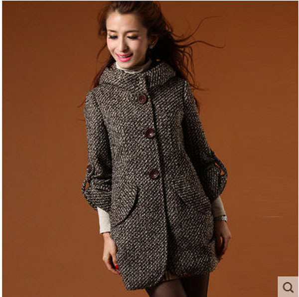 New Women S Woolen Overcoat Female Plus Size S M L Xl