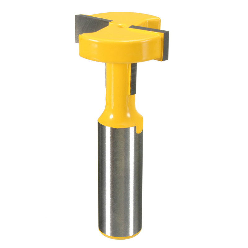 Top Quality 1PC T-Slot & T-Track Slotting Router Bit - 1/2'' Shank For Woodworking Chisel Cutter Wholesale Price high grade carbide alloy 1 2 shank 2 1 4 dia bottom cleaning router bit woodworking milling cutter for mdf wood 55mm mayitr
