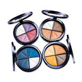 Creative 4 Color Portable Eye Shadow Box Exquisite High Quality Siltyshining Pearlescent Eye Shadow Beauty Makeup