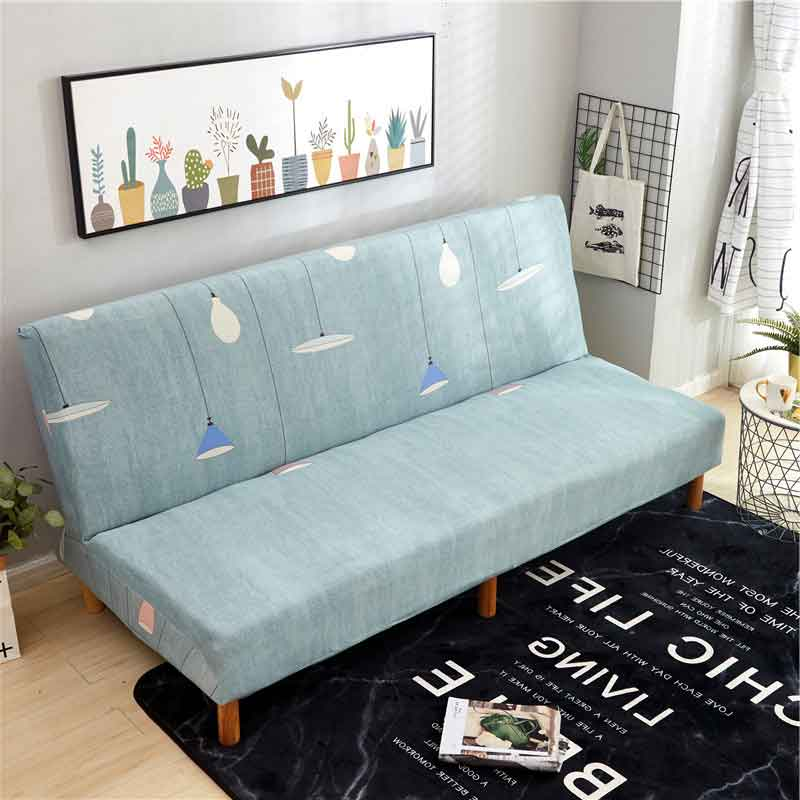 Table & Sofa Linens Universal Large Sofa Cover Stretch Big Elastic Couch Cover Sofa Furniture Sofa Cover Without Armrest Folding Cover For Sofa Bed Pure Whiteness Home & Garden