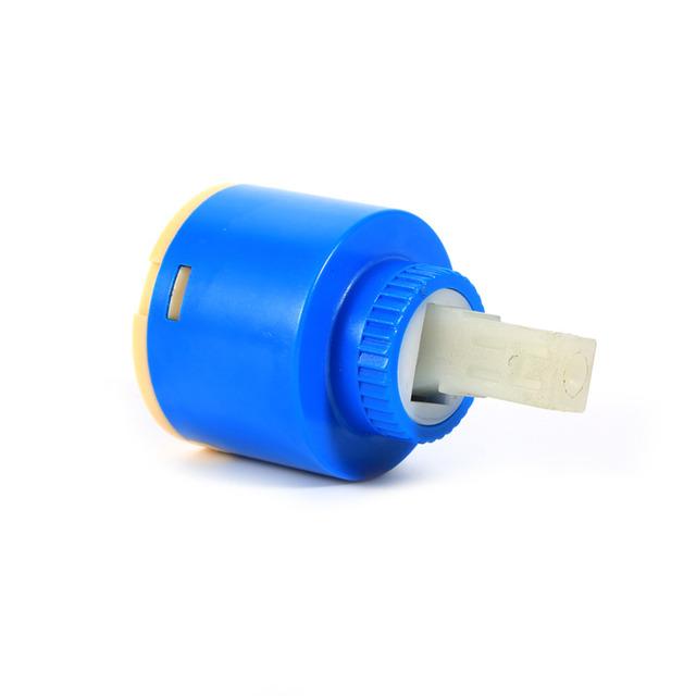 Practical Ceramic Cartridge Water Mixer Tap Inner Control Faucet Valve Disc tap cartridge PP Plastic Blue 35mm/40mm 2Sizes New