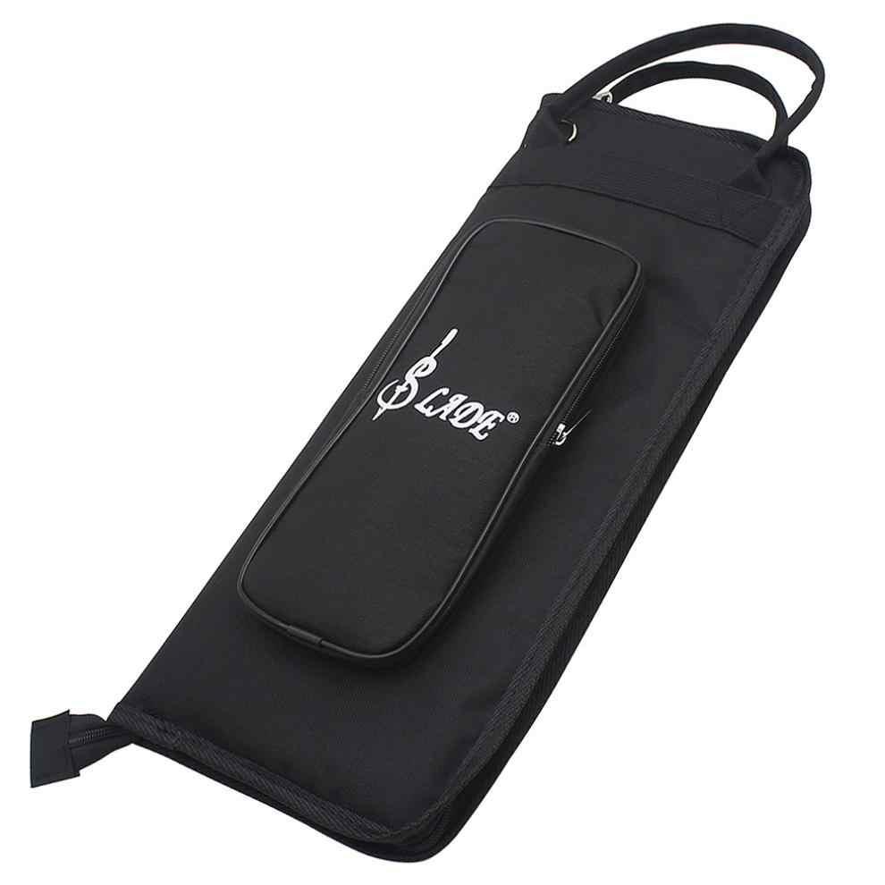 Черный Оксфорд ткань барабанная палка рюкзак Гиг сумка джаз барабан палка нотная тетрадь чехол для хранения держатель большой емкости сумки