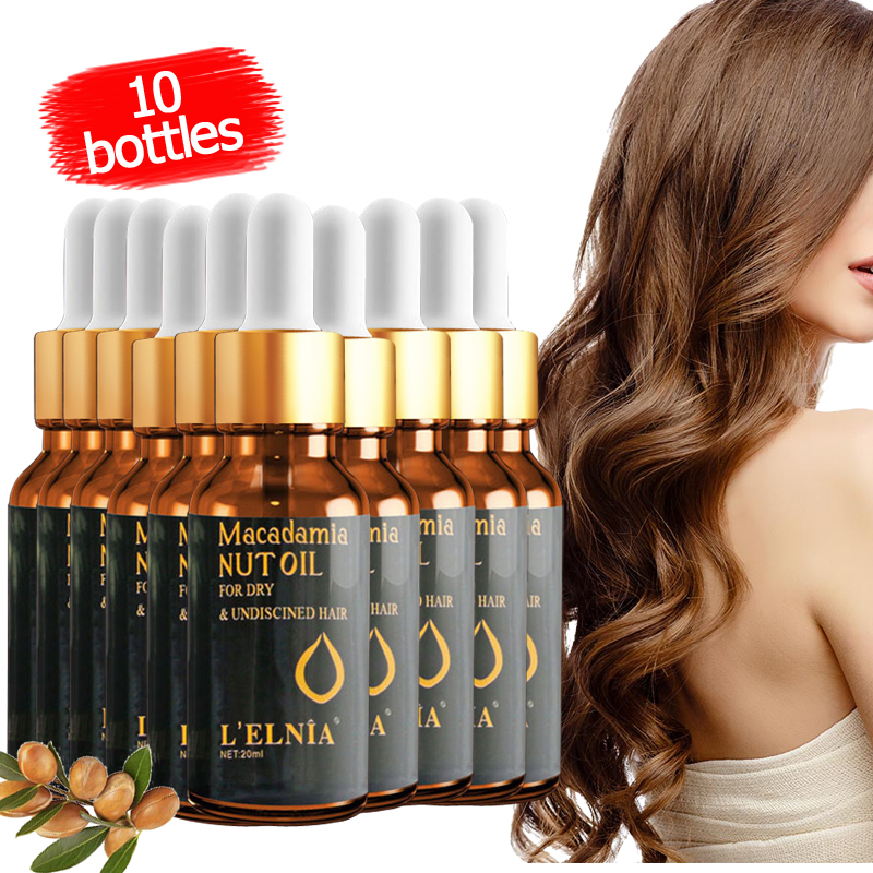 10pcs/lot Morocco Nut Oil Prevent Hair Loss Product For Men And Women Hair Care Essence Easy To Carry Repair Hair root Serum