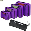 4 Pcs Home Underwear Socks Clothing Storage Bags Packing Cube Luggage Makeup Organizer Bag Clothes Travel Bag R20