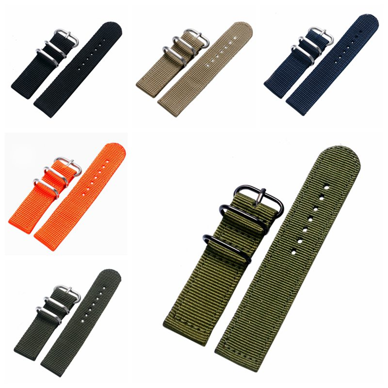 Durable Canvas Fabric Strap Steel Buckle Wrist Watch Band 20mm/22mm Pin Buckle Durable Replacement Watchband Nato Strap Colorful durable canvas fabric strap steel buckle wrist watch band 20mm 22mm pin buckle durable replacement watchband nato strap colorful