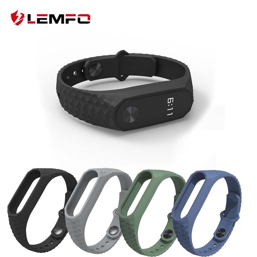 LEMFO Smart-Bracelet Wristband-Accessories Mi-Band Original Xiaomi 2-Strap Sport Silicone