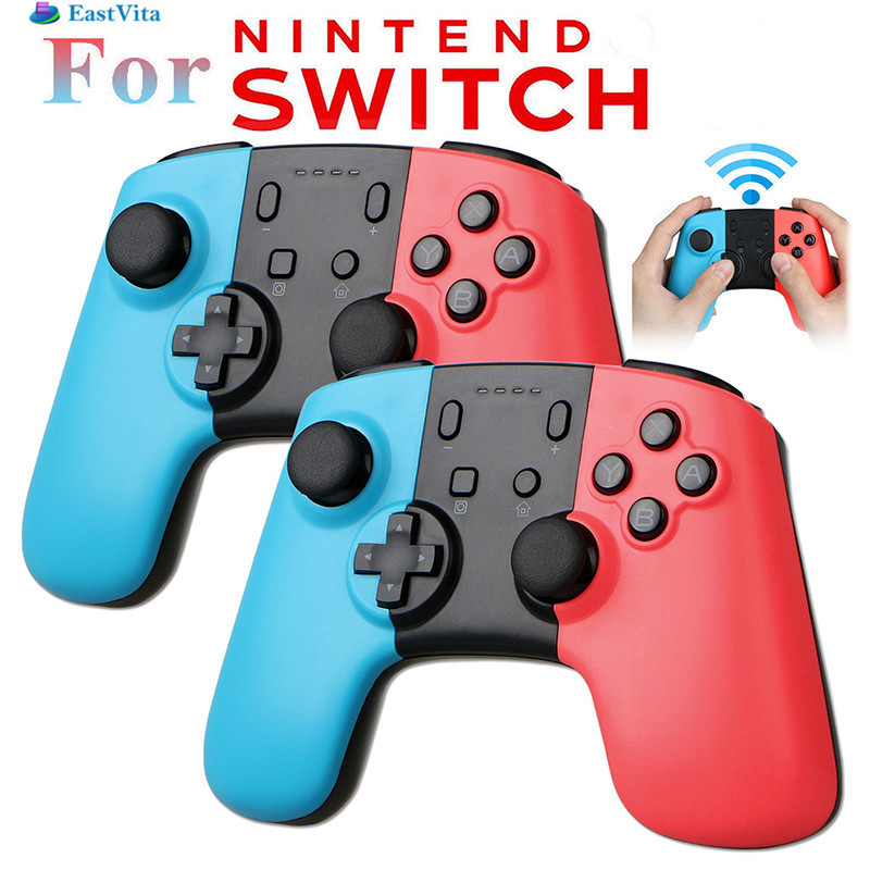 EastVita 2PCS Wireless Bluetooth Game Pad Controller Joypad for Nintend Switch Gamepad Remote Video game Console r27