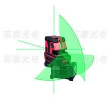 Leter зеленый лазерная линия саморегулирующая Крест линии лазерный уровень 5 точек, 1 В, 1 H