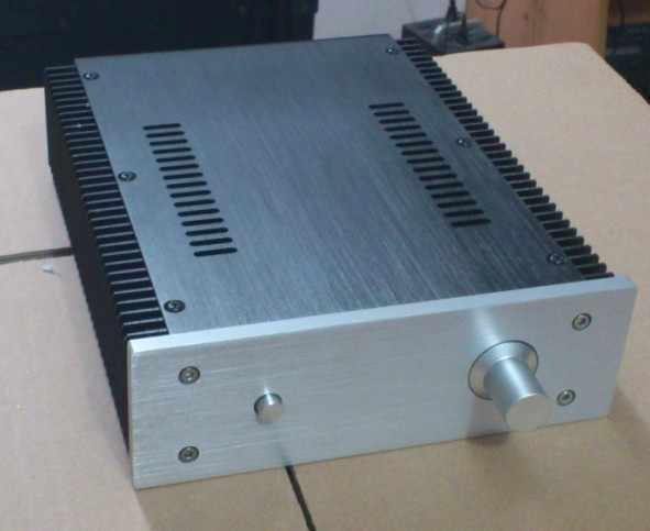 2107 все алюминиевые шасси усилителя/корпус усилителя класса A/корпус усилителя/корпус/коробка DIY (212*70*257 мм)