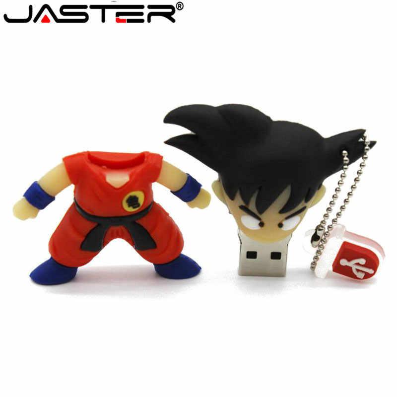 JASTER プロモーションプラスチックドラゴンボール 3d 孫悟空ペンドライブ漫画 USB 2.0 メモリスティック 4 ギガバイト/8 ギガバイト/ 16 ギガバイト/32 ギガバイト/64 ギガバイト U ディスク卸売