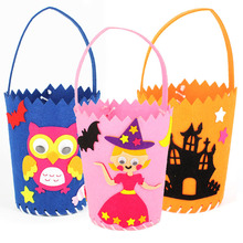 Basket-Props Craft-Toys Handmade-Material Kindergarten DIY Halloween Kids Candy Package