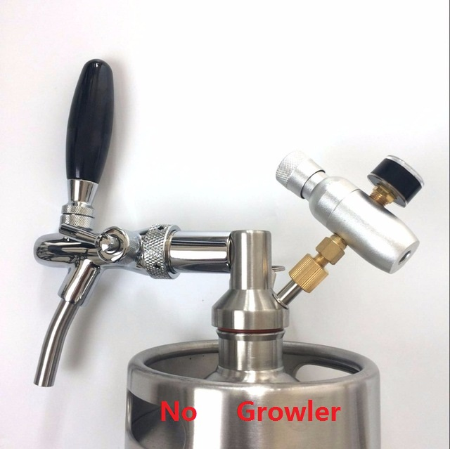 HomebrewMini Keg Beer spear with Adjustable Faucet and CO2 Injector