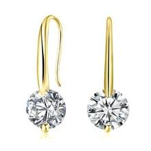 Godzgift Women Romantic Crystal Studs Earrings Female Clip Elegant Earring Gifts For Date Wedding Modern Jewelry Chic JE5101