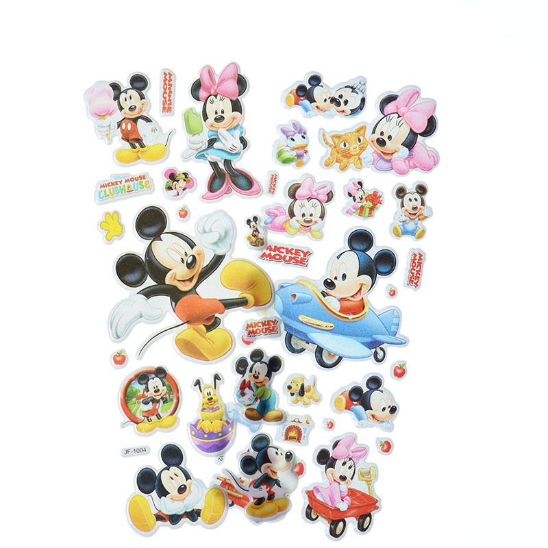 10pcs Cute Cartoon Mickey Mouse Bubble Stickers 3D PVC Mobile Phone Album Decoration Gift Stickers Children Stationery Stickers