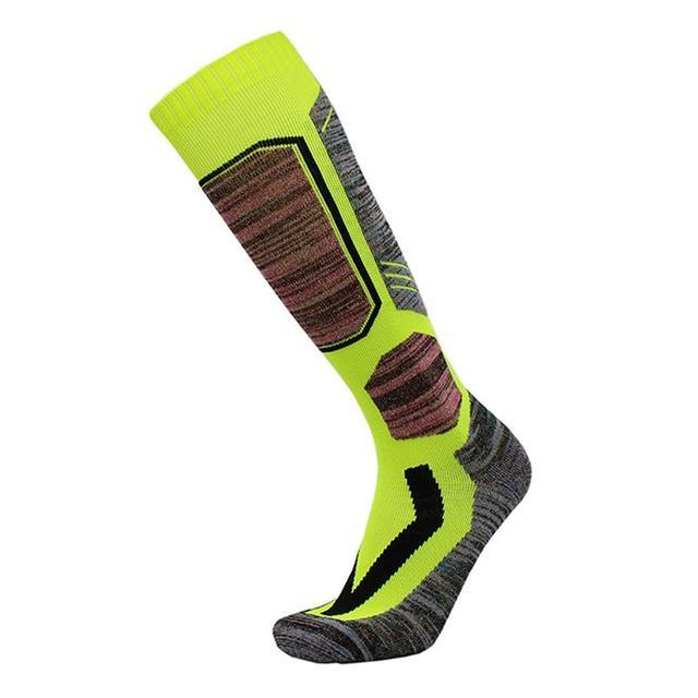 Mounchain 2017 Nuevo Invierno Caliente medias deportivas de hombre espesor de algodón Snowboard ciclismo de esquí térmico de fútbol de calcio calcetines pantalones sox