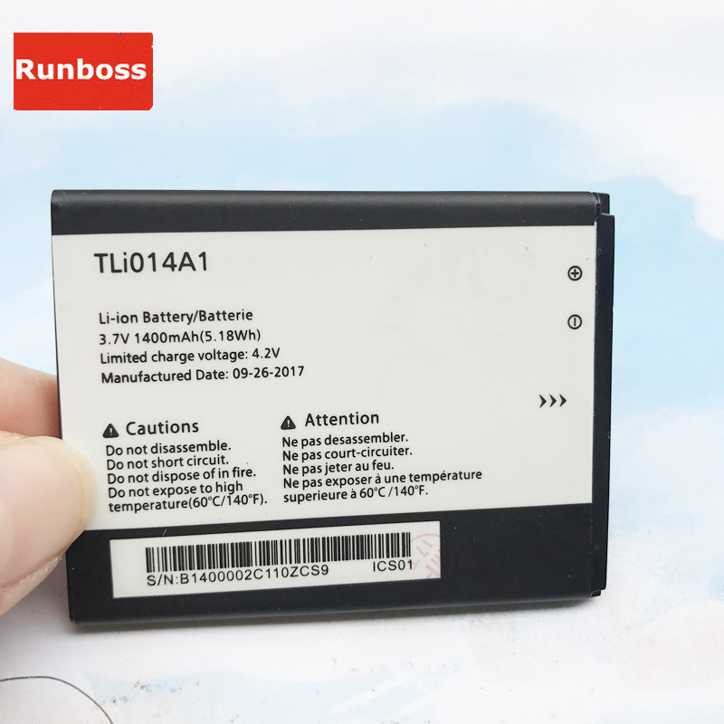 1400mAh Replacement TLI014A1 Battery For <font><b>Alcatel</b></font> <font><b>One</b></font> <font><b>Touch</b></font> 4033D 4032D POP C3 Pixi <font><b>4007D</b></font> BY71 CAB31P0000C1 Smartphone Batteries image