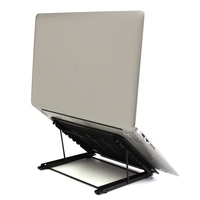 Adjustable Portable Laptop Desk Lap Tray Bed Notebook Foldable Table Stand New Metal Lapdesks Laptop Stand