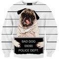 Новая мода мужчины/женская harajuku 3D толстовки печати плохая собака смешно балахон crewneck 3d животных пуловеры