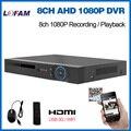 LOFAM CCTV 8ch DVR AHD 1080 P video surveillance DVR NVR 8 canais H.264 HDMI gravador DVR Autônomo 3G WIFI P2P segurança AHD-H