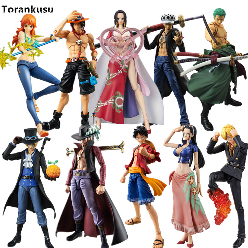 One Piece Luffy Zoro Nami Ace Law Sabo VAH S.H.Figuarts PVC Action Figure Model Toys One Piece Anime Collectible Toy Doll Gift one piece action figure roronoa zoro led light figuarts zero model toy 200mm pvc toy one piece anime zoro figurine diorama