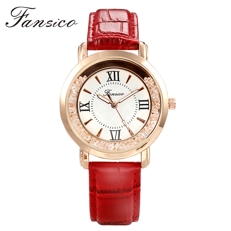 Fansico Leather Women Watch Quartz Lady Watches Clock Fashion Dress Women Luxury Wrist Watch Lady Dress Watches Dropshipping передняя светодиодная фара 1вт d light cg 122p